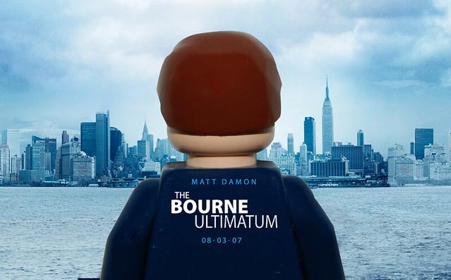 bourne ultimitium lego poster by craig 'lego' lyons