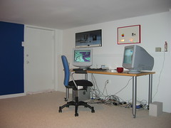 the empty room's first occupant, a Quicksilver G4 Mac