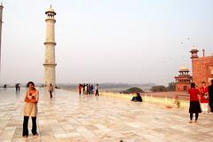Mom at Taj Mahal