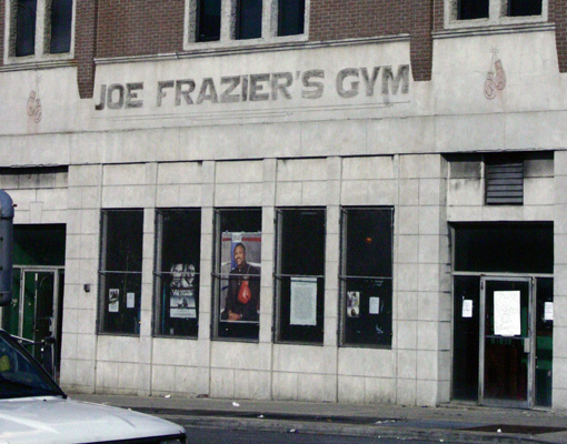 Joe Frazier's Gym Banner