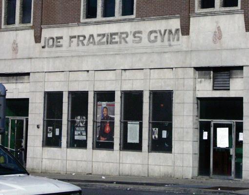 Joe Frazier's Gym Banner