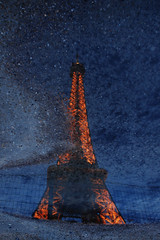 Eiffel Tower in a Puddle