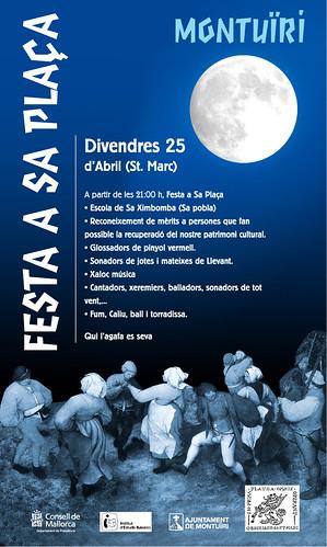 Cartell de la 'Festa a Sa Plaça'