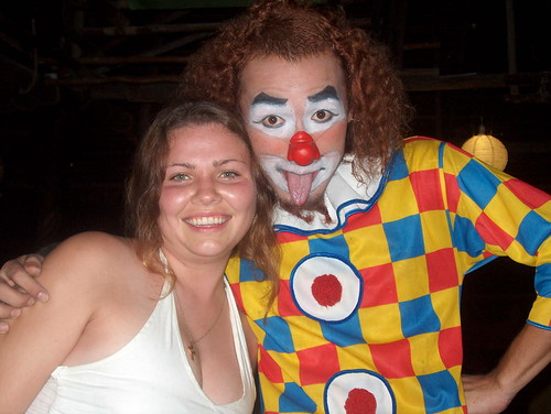 Lucy & a Rasta clown