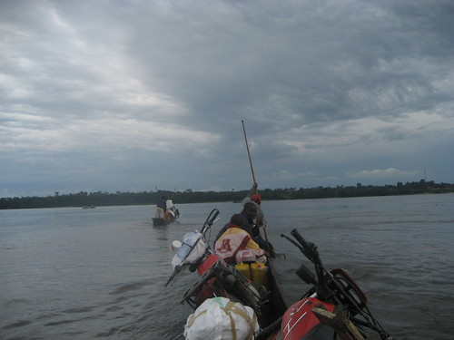 crossing the Congo at Yanonge