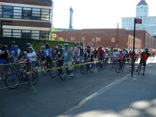 Tour de Brooklyn starting line