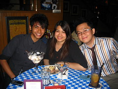 The trio - Shafik, Cheryl & I