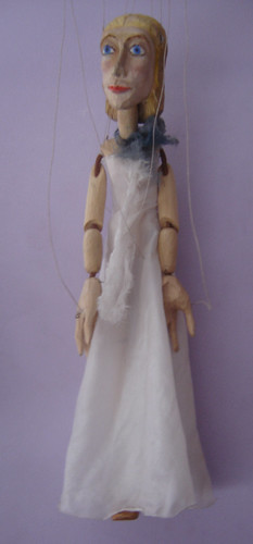 Wooden Lady Marionette