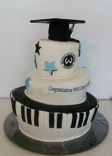 topsy turvy graduation cake