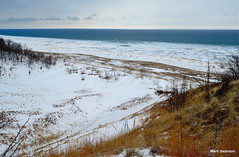 Top of the Dunes - Explore (mswan777) Tags: park winter sky lake snow seascape color ice beach nature clouds landscape sand nikon exposure waves michigan dunes lakemichigan lakeshore polarizer circular d5100