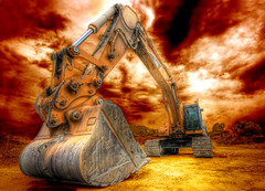 The Excavator (dfworks) Tags: canon construction machinery pa hdr berkscounty excavator 30d blueribbonwinner 3xp photomatix sigma1020 platinumphoto impressedbeauty superaplus aplusphoto diamondclassphotographer flickrdiamond superhearts thegoldendreams platinumhalloffame platinumsuperstar