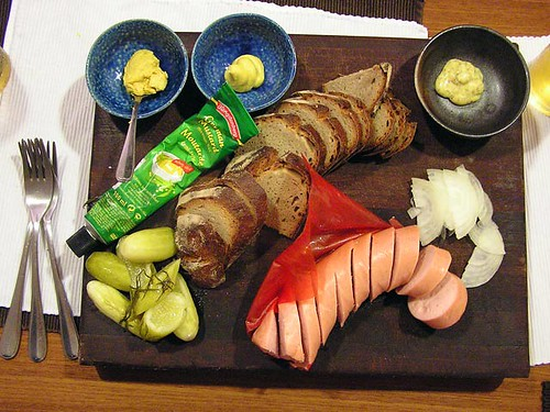 Fleischwurst platter from the MayPaul