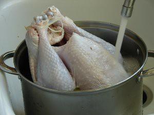 wash turkey