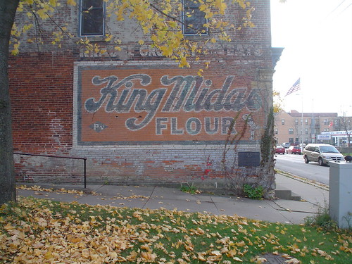 old sign for King Midas flour