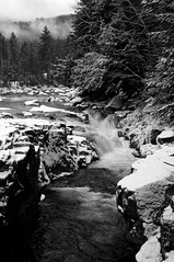 Winters Arrival (Becbeatle) Tags: trees wild blackandwhite white mountain snow mountains cold nature water pool beautiful stone clouds forest swimming wow river private waterfall nationalpark amazing woods rocks stream bright hiking snowstorm newengland newhampshire freezing whitemountains rapids adventure nationalforest freeze blanket gorge wilderness snowfall blizzard breathtaking riverbend mountwashington naturesfinest naturewatcher