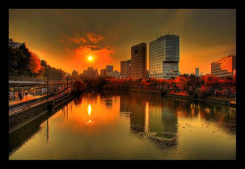 Ichigaya sunset