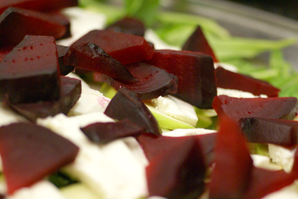 Roasted Beets and Apple Salad