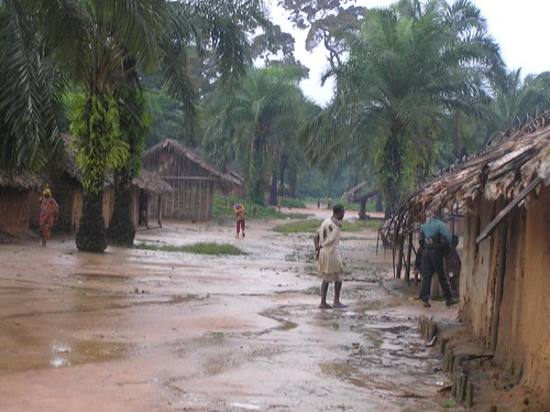 Ngombe, DRCongo, is sadly awful, during rainy season it turns into a swamp