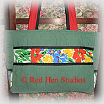 Quilted Knitting Tote from Upcycled Fabrics