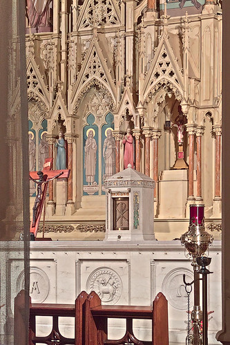 Saint Augustine Roman Catholic Church, in Saint Louis, Missouri, USA - altar