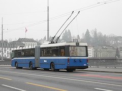Retired VBL Trolleybus #183 in Lucerne, Switzerland (R. Kurmann) Tags: bus switzerland publictransit lucerne trolleybus vbl