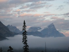 Early Sunrise (Minkum) Tags: white mist mountains nature clouds sunrise breathtaking smrgsbord canadianrockies diamondclassphotographer
