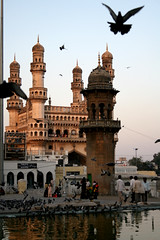 Charminar (Ehsan Khakbaz) Tags: india bird monument four fly towers hyderabad charminar ehsan     ehsankhakbaz  khakbaz andhrapardesh  fourtowers