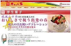 洋菓子のご案内、オランダ家の選りすぐりの洋菓子が勢揃いです-20080113