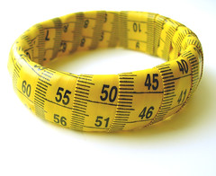 Yellow and Black Measuring Tape Bracelet