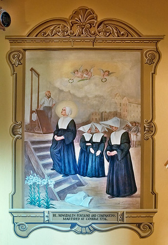 Saint Mary of the Barrens Roman Catholic Church, in Perryville, Missouri, USA - painting of French martyrs