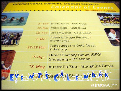 2008 Calender of Events