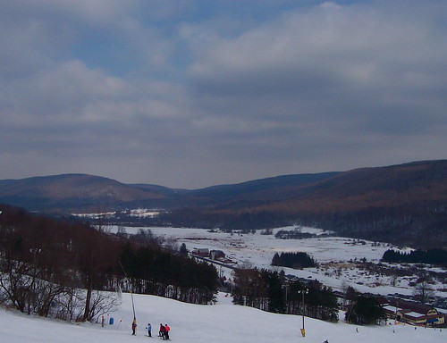 From the chairlift