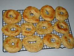 spelt bagels after roasting
