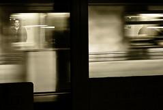 See-Through Subway (Susan NYC) Tags: sf leica nyc bw motion blur underground subway movement action fave m8 pr mp 2008 pp kf ip ws pkt throughglass mywebsite leicam8 ip35 ip6 sfbwsub l1057807jpg subway2008