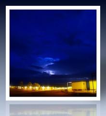 Blue Sky - Late Night (Banchee) Tags: blue storm canon fdsflickrtoys australia lightning s5 pilbara canons5is