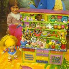 stOOpidgErl's Candy Cabinet! (Rainbow Mermaid) Tags: house color colour cute cake glitter pie toy miniature rainbow colorful dolls candy bright gaudy sweets sweeties colourful lollipop dollhouse rainbowbrite