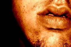 The Desperation of dirt (Blackcatatheart) Tags: portrait beard lips dirty dirt filth desperation hateitorloveit