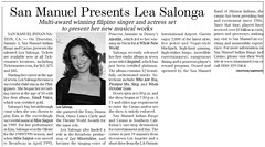 Lea Salonga was at the San Manuel Indian Casino. (01/03/2008)