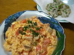 20080311_トロトロトマト丼、そら豆とグリンピースの落とし揚げ 002