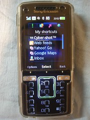 My Shortcuts - Sony Ericsson K850i