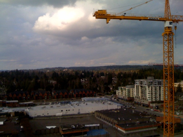 View from the room at the Hyatt in Bellevue