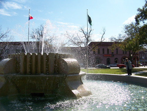 Fountain on town square