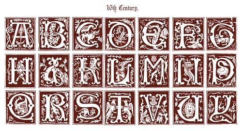 Iniciales decorativas siglo 16