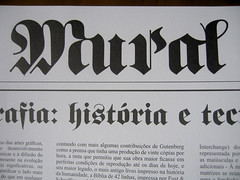 Mural (Marina Chaccur) Tags: typography newspaper article lettering jornal fraktur newsletter blackletter tipografia gtica artigo informativo