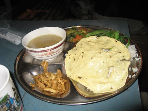 Vegetarian dal bhat