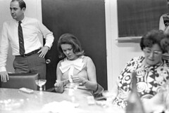 060168 13 28 (nick dewolf photo archive) Tags: party blackandwhite bw woman glass june boston glasses blackwhite office women massachusetts champagne nick tie meeting corporation celebration company staff electronics bow 1960s 1968 employee offices employees whiteshirt dewolf teradyne alexdarbeloff nickdewolf photographbynickdewolf