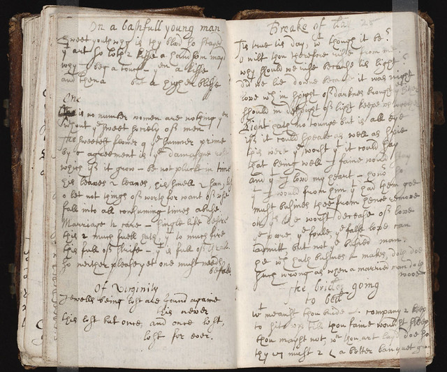commonplace book mid 17th c anonymous manuscript containing poems by ...