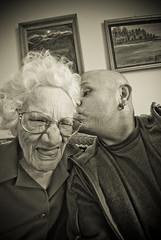 Grandma is a goofball (Glockoma) Tags: old grandma goofy elderly goofball 96 stillyoungatheart