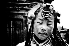 (falsalama) Tags: portrait girl tibetan 24mm  khampa chuba       danielgriffin