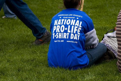 ALL's National Pro-Life T-Shirt Day